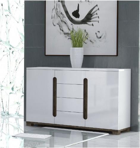 Costa White Gloss Sideboard - 2526